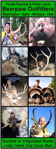 Bearpaw Outfitters, Guided Hunts, Unguided Hunts, Hunting Maps